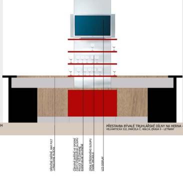 Pro tuto pobočku byl zpracován projekt stavebních úprav i architektonické řešení vybavení interiéru.