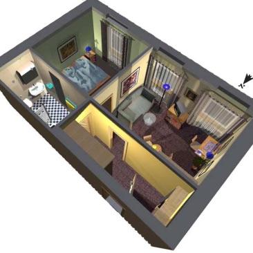 Návrh členění hotelové části i jednotlivých typů pokojů ve spolupráci s ateliérem ArchiCon plus