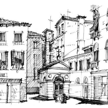 kresba v plenéru